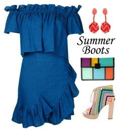 """""""walk this way: summer boots"""" by xaia ❤ liked on Polyvore featuring Goen.J, Oscar de la Renta, Jerome C. Rousseau and summerbooties"""