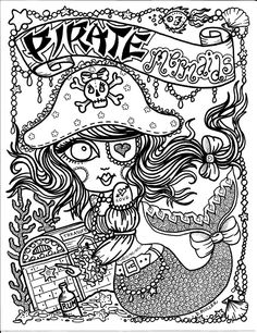 Pirate Mermaid Myth Mythical Mystical Legend Mermaids Siren Fantasy Mermaids Ocean Sea Enchantment Sirenas Abstract Doodle Zentangle Paisley Coloring pages colouring adult detailed advanced printable Kleuren voor volwassenen coloriage pour adulte anti-stress kleurplaat voor volwassenen https://www.facebook.com/848770148469936/photos/pb.848770148469936.-2207520000.1438815488./863671853646432/?type=3
