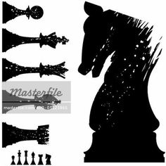 Vector silhouette of chess pieces in grunge style – Image © lhfgraphics / Masterfile.com: Creative Stock Photos, Vectors and Illustrations for Web, Mobile and Print