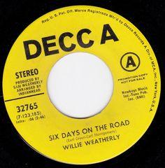 "Six Days On The Road/Come The Dawn (7"" DJ/45 rpm) DECCA http://www.amazon.com/dp/B00KABI51A/ref=cm_sw_r_pi_dp_Di4Gvb0CSCYH4"