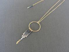 COLLECTION YNKA : Collier fine en Or Gold filled 14k et perles Miyuki.