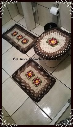 Crochet For Home - Bathroom Crochet Gifts, Free Crochet, Knit Crochet, Bathroom Mat Sets, Crochet Home Decor, Crochet Kitchen, Crochet Projects, Diy And Crafts, Crochet Patterns