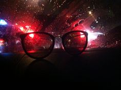 Glasses & lighting back a car