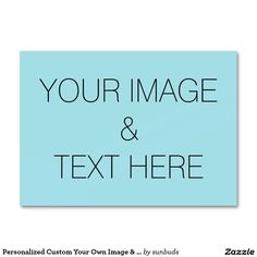 Personalized Custom Your Own Image & Text Large Business Card