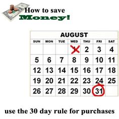 Use the 30 day rule. When you consider making an unnecessary purchase, don't do it for thirty days. After 30 days you'll know whether it's something you truly want or if it would have been an impulse buy. You may end up saving yourself a good deal of money this way. *** Follow us on Facebook for money saving tips every Wed. - https://www.facebook.com/AvrusFinancial