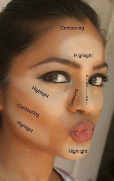 How to contour/highlight for perfect facial structure