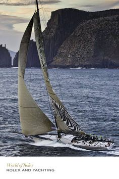The crew has no time for rest at the Rolex Sydney Hobart Yacht Race. Discover more about Rolex and yachting on the Official Rolex Website. Sail Racing, Fast Boats, Out To Sea, Yacht Boat, Sail Away, Tall Ships, During The Summer, Water Crafts, Sailing Ships