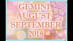 GEMINI LOVE AUGUST + SEPTEMBER TAROT READING 2018! Pisces Love, Leo Love, Tarot Horoscope, Love Tarot Reading, Horoscopes, Zodiac Signs, September, Neon Signs, Youtube