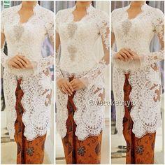 simplicity makes perfection. Vera Kebaya, Batik Kebaya, Kebaya Dress, I Dress, Lace Dress, Kebaya Hijab, Kebaya Wedding, Muslimah Wedding Dress, Wedding Dresses