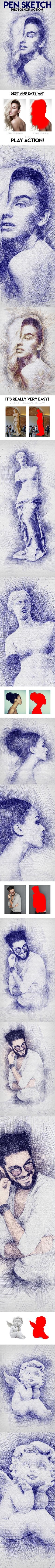 Pen Sketch Photoshop Action. Download here: http://graphicriver.net/item/pen-sketch-photoshop-action/15223599?ref=ksioks