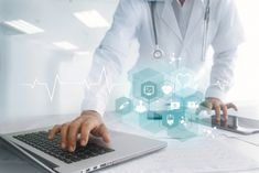 Medicine doctor hand touching laptop and tablet interface as medical network connection with icon modern on virtual screen, Digital healthcare, medical technology network and innovation concept , Email Marketing Campaign, Medicine Doctor, Medical Technology, Medical Information, Educational Videos, Digital Marketing Strategy, Influencer Marketing, Health Care, Benefit Brow