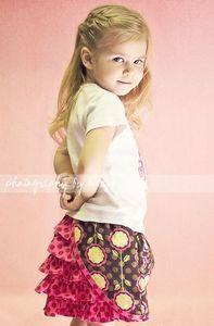 Stitched Boutique Oh La La Ruffle Skirt