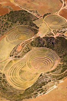 Moray (Inca ruin), Cusco, Peru / Moray or Muray (Quechua) is an archaeological site in Peru approximately 50 km northwest of Cuzco on a high plateau at about 3500m and just west of the village of Maras. The site contains unusual Inca ruins, mostly consisting of several enormous terraced circular depressions, the largest of which is about 30m deep.