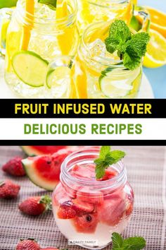 to make infused water, health benefits of infused water, questions about homemade infused water, and some easy & healthy fruit infused water recipes. What Is Detox Water, Detox Cleanse Water, Infused Water Detox, Best Detox Water, Infused Water Recipes, Detox Waters, Weight Loss Meals, Detox Water Benefits, Health Benefits