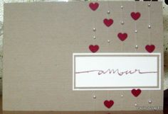Une jolie carte pour la St Valentin.