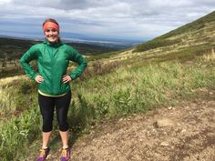 Hiking up Little O'Malley in her Skhoop wind jacket! Thanks for letting me snap a pic, Makenna!