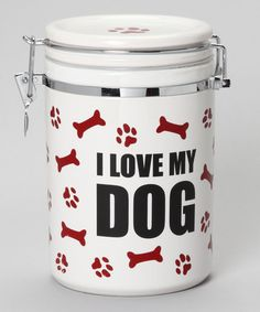 Take a look at this 'I Love My Dog' Treat Jar by Pet Love Collection on @zulily today!