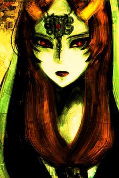 Legend of Zelda, Midna art work. Love this