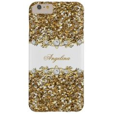 Silver White Gold Faux Diamond Jewel Glitter Barely There iPhone 6 Plus Case Elegant Classy Silver White Gold Faux Diamond Jewel Glitter Add Name Initials Glitter Girly (Be advised that image will appear darker on Case) Fabulous product for Women, Girls, Zizzago created this design PLEASE NOTE all flat images! They Do NOT have real Glitter, Diamonds Jewels or real Bows!! #elegant #classy #women #gold #silver #white #diamond #jewel #glitter #girly #girls #lace #cover #phone #mobile #mate ...