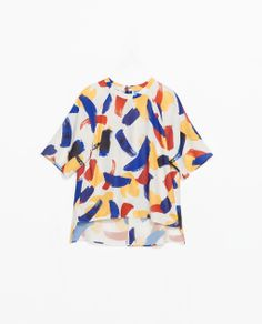 Image 8 of BLOUSE WITH SMALL BRUSH STROKES PRINT from Zara