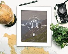 Not all those who Wander are lost Photograph Digital Places To Travel, Wander, Photograph, Lost, Unique Jewelry, Handmade Gifts, Boutique, Digital, Inspiration