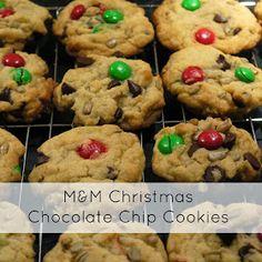 Sense and Simplicity: Christmas Cookie Week - M&M Chocolate Chip Cookies