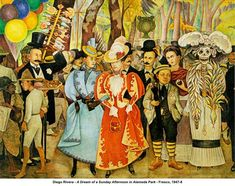 Diego Rivera Paintings | Diego Rivera Mexican Revolution Murals Diego rivera - a dream of a