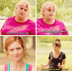 Oh the fanfic for Bechloe ! I love it ;) Parks and Rec quote too.