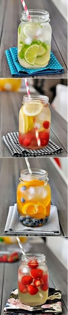 When you have cravings just drink these. Vitamin Load Your Detox Water for Weight-loss & Beautiful Skin (Bye Bye Belly Bloat & Cravings! Yummy Drinks, Healthy Drinks, Healthy Snacks, Yummy Food, Healthy Recipes, Healthy Soda, Refreshing Drinks, Detox Recipes, Healthy Choices