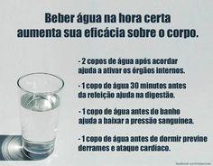 #Benefícios de #beber #água na #hora certa. Saiba como fazer mais coisas em http://www.comofazer.org