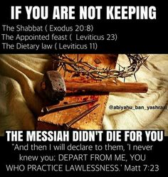 Yashaya CHRIST didnt die for the people that dont want to keep the commandments. Happy Sabbath, Sabbath Rest, Black Hebrew Israelites, Bible Study Notebook, Tribe Of Judah, Lion Of Judah, Bible Knowledge, Bible Truth, Torah