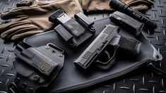 The new Sig is a micro compact striker fired polymer ultra concealable pistol with a higher capacity than a normal single stack. Standard with night sights, 1 flush fit mag and an extended mag come with this gorgeous pistol. Sig Sauer, Sig P320, Car Holster, Concealed Carry Weapons, Shooting Guns, Shooting Sports, Striker Fired, Tactical Life, Everyday Carry Gear