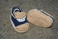 Crochet Baby Boy Shoes Baby Sneakers Booties Photo by TheYarnDolls