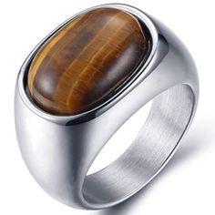 pánske prstene (luxusné, exkluzívne - titán, wolfrám, oceľ a striebro) Wedding Rings Vintage, Vintage Rings, Vintage Jewelry, Ring Ring, Gems Jewelry, Stone Jewelry, Men's Jewellery, Stainless Steel Polish, Cheap Rings