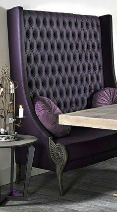 Beyond Words Upholstery Sofa Microfiber Couch Ideas - Lessons - Exquisite Upholstery Sofa Microfiber Couch Ideas - Lessons - Learning Purple Furniture, Unique Furniture, Furniture Decor, Furniture Design, Purple Home, Living Room Upholstery, Chair Upholstery, Upholstery Cleaning, Home Interior