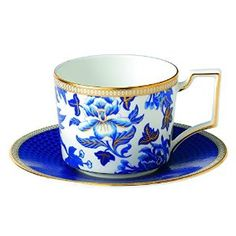 Wedgwood Hibiscus Teacup and Saucer via Amazoncu