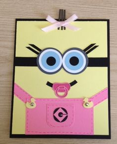 Baby Girl Minion Baby Shower Announcements by DawnHubbardCreations, $40.00