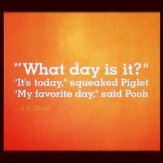 I SO miss watching Winnie the Pooh.