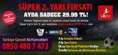 Digiturk Giriş Paketi + seçeceğiniz (en az) 2 Digiturk Keyif Paketi + Lig TV Paketi ile üyeliğinizi başlatmanız durumunda. Lig Tv Süperlig 4 Ay 29,99 TL sonra 78,99 TL Lig Tv Şampiyonlar 4 Ay 29,99 TLsonra 67,99 TL Lig Tv Taraftar 4 Ay 29,99 TLsonra 61,99 TL Lig Tv Anadolu Şampiyonlar 4 Ay 29,99 TL sonra 46,99 TL Lig Tv Anadolu Taraftar 4 Ay 29,99 TL sonra 43,99 TL