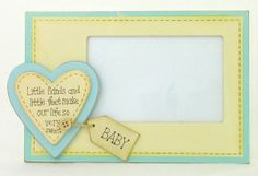 Little Hands and Little Feet Blue Baby Photo Frame - Unique Gift Ideas At Tain Brae World