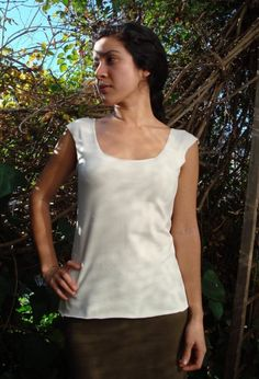 Romantic Lowback Organic Caoba Top   organic clothing by zelaya, $67.00