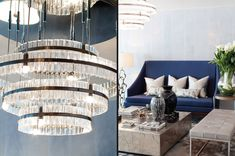Hyde Park Lobby and Spa - stunning chandeliers, stone tables and our bespoke furniture | INTARYA luxury interior design |