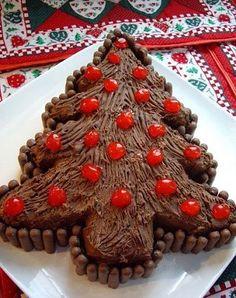 Saboroso Gostinho: Árvore de natal de bolo de chocolate