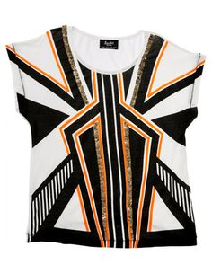 BARDOT JUNIOR Deco Stripe Tee $54.95