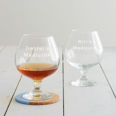 This personalised 'medicine' brandy glass is designed for the days when the only cure is a large drink! Perfect for dads or grandads, this personalised brandy glass is a great idea for Father's Day. Online Gift Shop, Online Gifts, Personalized Medicine, Personalized Gifts, Whisky Tumbler, Brandy Glass, Grandparent Gifts, Milestone Birthdays