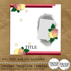 October 2015 Template Freebie from Trixie Scraps Designs