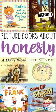 Picture books about honesty to support character education in the classroom. Honesty in the classroom lessons and activities.