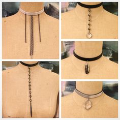Leather Chokers. All one of a kind. Lisajilljewelry@gmail.com for wholesale and retail
