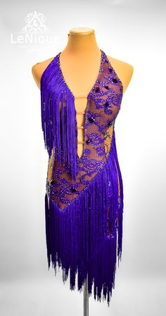 ELITE- Purple lace over nude, purple fringe skirt, heliotrope and light topaz deco Size: S Purple Lace, Purple Dress, Latin Ballroom Dresses, Figure Skating Dresses, Fringe Skirt, Dance Outfits, Concert Outfits, Dance Wear