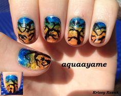 aquaayame halloween  #nail #nails #nailart